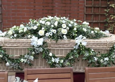 Decorated Wicker Casket