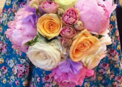 Peony and Rose Brides Bouquet