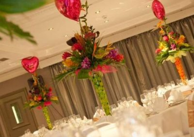 Tropical Wedding Table Centres