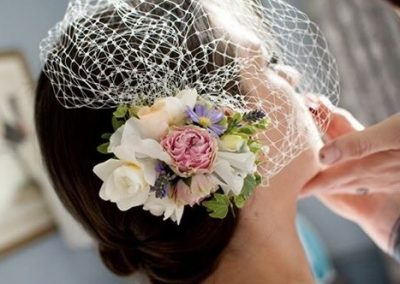 Brides Flower Hair Piece